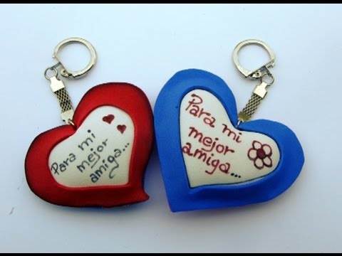 Manualidades para regalar -Heart keychain