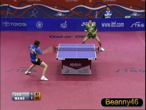 Joo Se Hyuk vs Wang Liqin (2009 Qatar Open) [Full Match 3rd Game/Set]