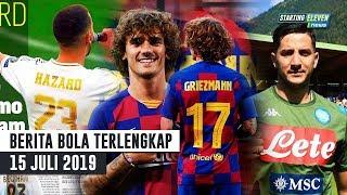RESMI Griezmann Pakai No 17 & Hazard pilih No 23 👍 Manolas RESMI ke Napoli 🔥 Berita Bola Terbaru