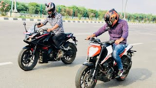 KTM DUKE 250 VS Pulsar RS 200 DRAG RACE n Top speed