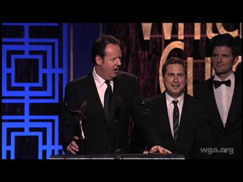 Dave Boone & Paul Greenberg receive the Writers Guild Award for Comedy/Variety - Specials