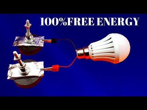 Infinity Free Energy Light bulbs - using Magnet And Foil Paper - Free Energy Device Using Magnet thumbnail