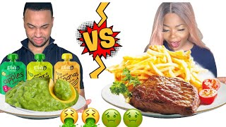 BABY VS ADULT FOOD CHALLENGE