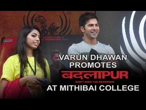 Varun Dhawan At College Fest | Badlapur | Varun Dhawan, Yami Gautam & Nawazuddin Siddiq