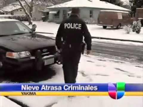 Nieve Ayuda a Policía de Yakima a Atrapar Criminales