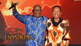 """The Circle of Life"" live performance at Disney's ""The Lion King"" press conference"