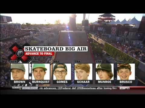 2012 X-Games Skateboard Big Air Final HD