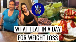 WHAT I EAT IN A DAY ON WEIGHT WATCHERS FOR WEIGHT LOSS - MYWW GREEN - ALL PLAN POINTS INCLUDED!