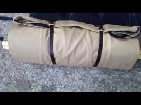 Kephart Bedroll  By Duluth Pack  Khaki Color Setup