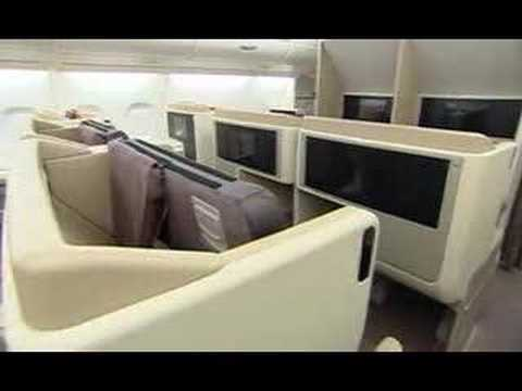 Singapore Airlines A380 Interior Cabin Video