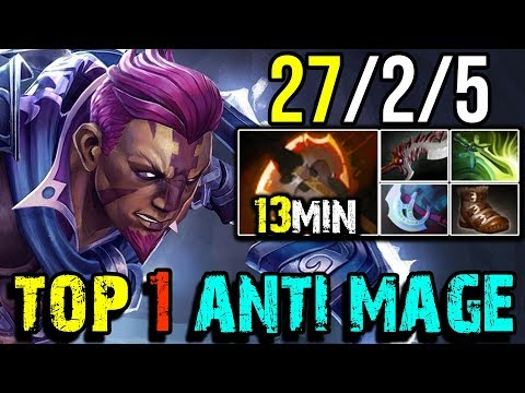 This is How Top 1 DotaBuff [Anti-Mage] Farm 930+GPM 27Kills by paiN.hFn | Dota 2 FullGame