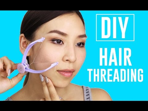 At Home DIY Hair Threading - TINA TRIES IT