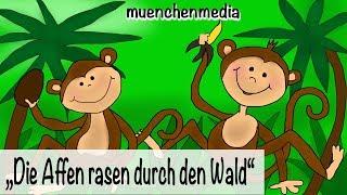 🎵 Die Affen rasen durch den Wald - Kinderlieder deutsch | Kinderparty Musik - muenchenmedia