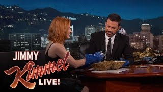Jessica Chastain and Jimmy Kimmel Eat the