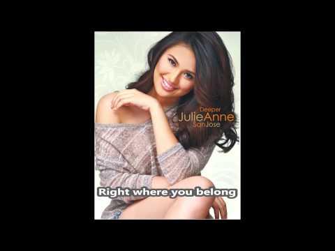 Julie Anne San Jose | Right Where You Belong | Minus-one video