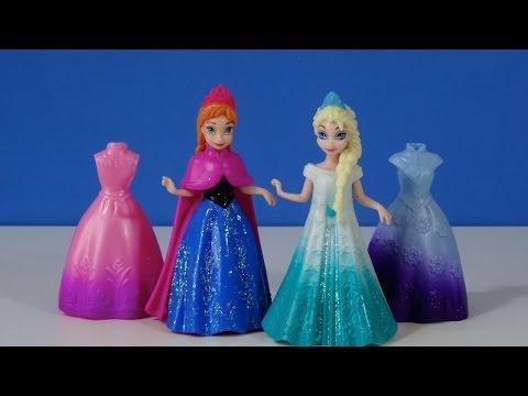 Disney Frozen Anna y Elsa MagiClip vestidos Mini Muñecas