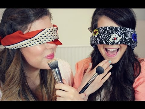 Blindfolded makeup challenge