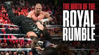 What is the origin of the Royal Rumble Match?