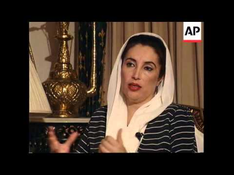 PAKISTAN: OUSTED PM BENAZIR BHUTTO TO RUN IN FORTHCOMING ELECTIONS