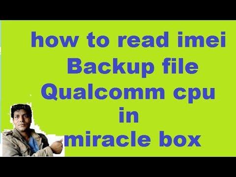 "how to""read backup file""oppo""vivo""mi""samsung""lava""micromax""qualcomm cpu""in miracle box"