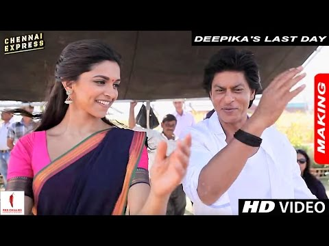 Deepika's Last Day : Sets of Chennai Express with Shah Rukh Khan & Rohit Shetty