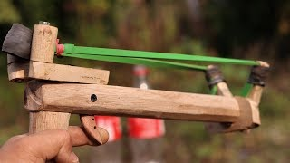 How to Make a Survival Slingshot Gun at Home . | DIY |