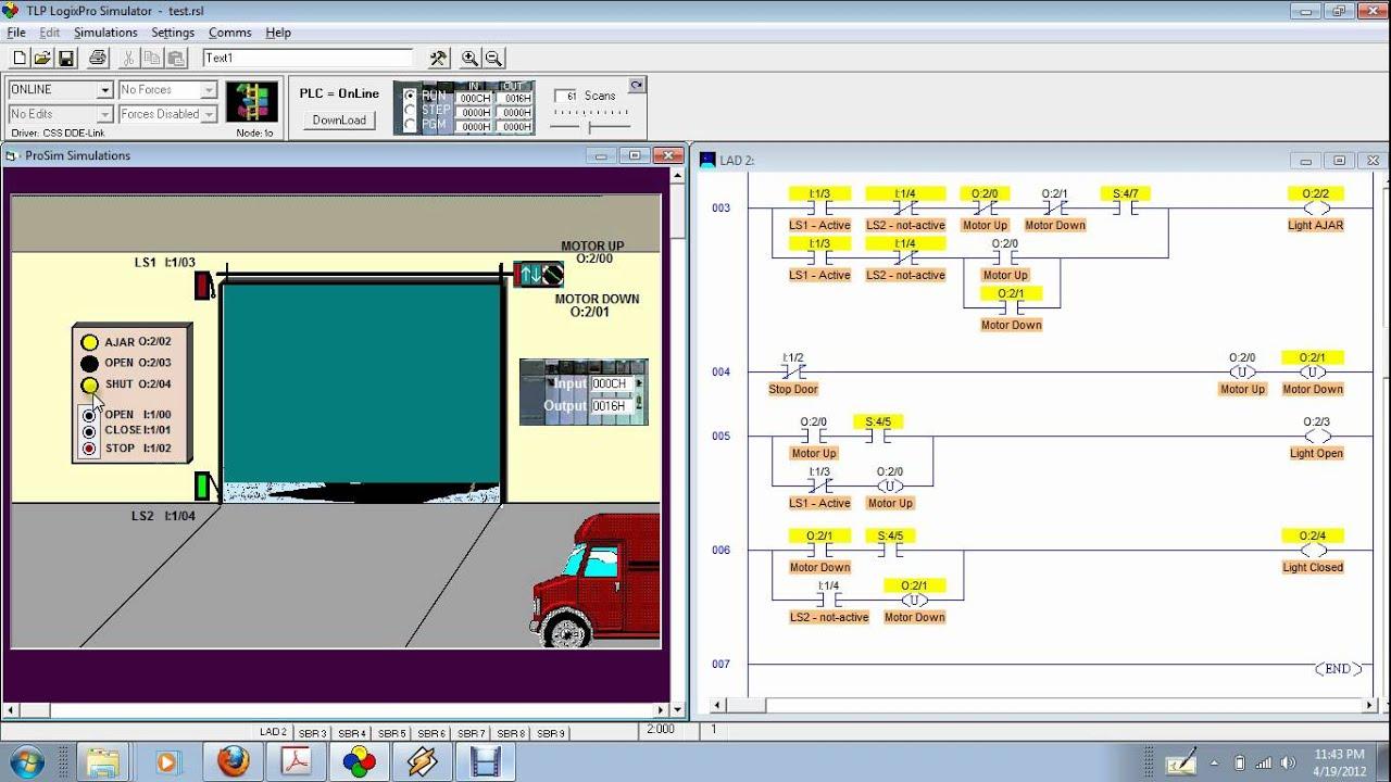 Logixpro Door Simulation 3 Example Latch Instructions