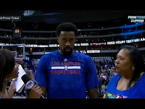DeAndre Jordan Post Game Interview Goes Marshawn Lynch and Brings Mom Mother My Thoughts Review