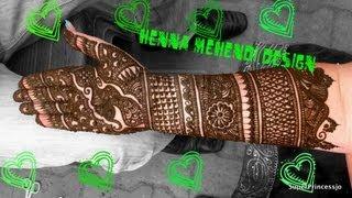 How to make HENNA Indian Pakistani Henna Design Full hand 09:23