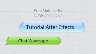 Tutorial After Effects - Chat Whatsapp