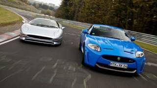 Jaguar XJ220 V Jaguar XKRS Chris Harris- evo exclusive
