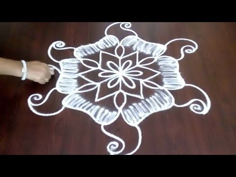 Chukkala Muggulu With 5 x 3 || Beautiful Design ||  Easy Kolam Step  By Step || Fashion World