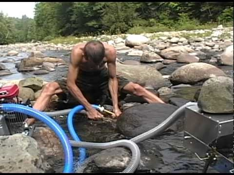 Gold Dredging On The Wild Ammonoosuc River Bath Nh Youtube