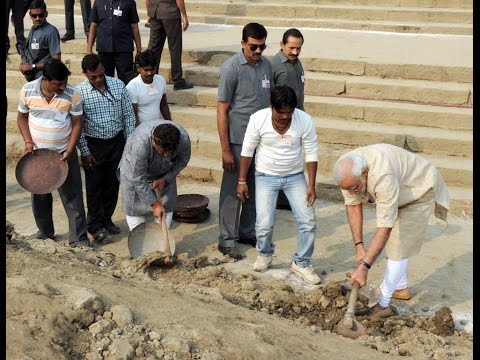 #SwachhBharat: PM Modi launches Clean Ganga Initiative at Assi Ghat, Varanasi