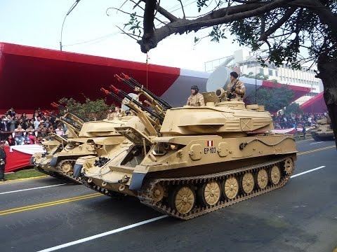 Magno Parada Militar 29/07/2016 PERU Tanques Leopard 2 A4