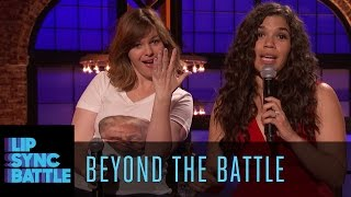 Beyond the Battle with Amber Tamblyn and America Ferrera | Lip Sync Battle