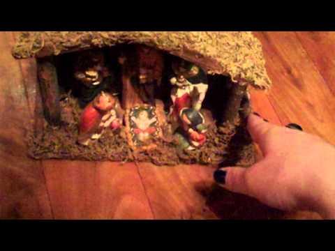 Christmas crib and tree decorations *ASMR*