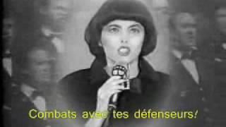 Mireille Mathieu singing La Marseillaise (with lyrics)
