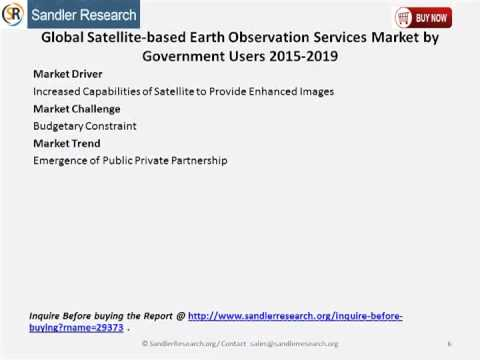global satellite based earth observation market Satellite-based earth observation market prospects to 2026: defense still dominates the market with $1 billion in data sales with a focus on very high resolution and high accuracy data sets satellite communications , global positioning systems software.