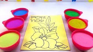 CON CÀO CÀO NHẠC THIẾU NHI ĐỒ CHƠI TRẺ EM TÔ MÀU TRANH CÁT BÔNG HOA Colored Sand Painting