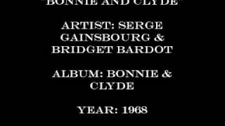 Serge Gainsbourg Brigitte Bardot Bonnie Clyde