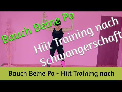 Bauch Beine Po - Hiit Training nach Schwangerschaft