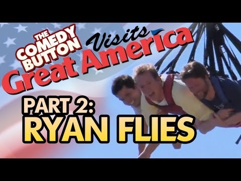 The Comedy Button at Great America!! - Ryan Flies!! (Episode 02)