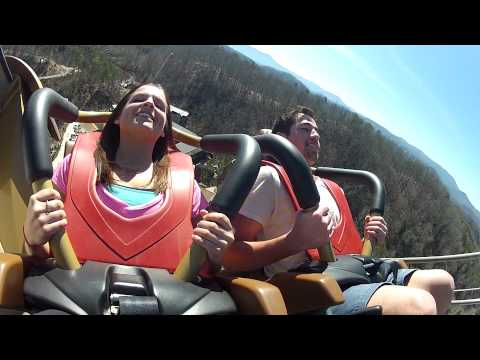 Wild Eagle Rider POV & Off-Ride Shots - Dollywood 2012 Roller Coaster