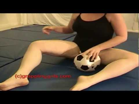 Girl Scissor Crushes Soccer Ball video
