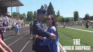 Airman Surprises Sister at Graduation