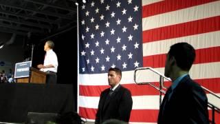 President Obama Speech at Rollins College with ASL Interpreter- Adam Ledo Part 1