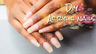 DIY Salon Quality Acrylic Overlay on Natural Nails | SimplySubrena