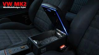How to Build a Car Custom Center Console Armrest Storage Box MDF Designs for a car ✔ MMD