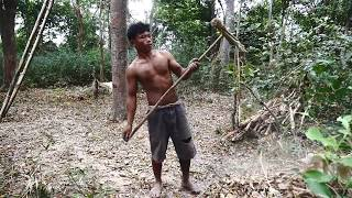 Primitive Technology, Make Rake from bamboo and wood